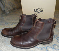 ugg rudyard sale ugg australia m gallion chestnut leather mens boots size 11 5 ebay