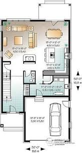 narrow house plans with garage house plan w3859 detail from drummondhouseplans com