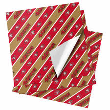 cheapest place to buy wrapping paper nfl folded gift wrapping paper san francisco 49ers