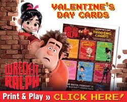 printable wreck ralph valentine u0027s cards cincomom