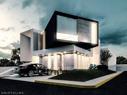 Enhanced Home Design Drafting Bent House Architecture Modern Facade Contemporary House