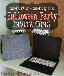 easy halloween party invitations the v spot