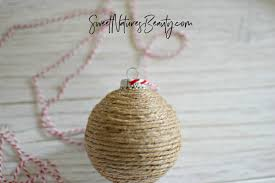 diy rustic ornaments with twine sweet nature s