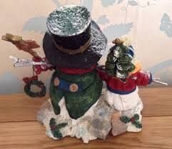 christmas in july let it snow snowman family christmas ornament