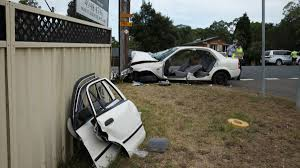 four in hospital after nasty lake crash newcastle herald
