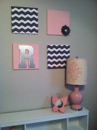 Gray And Pink Bedroom by 25 Best Chevron Girls Bedrooms Ideas On Pinterest Wall Initials