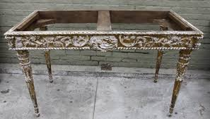 italian baroque style giltwood console with mirrored top melissa