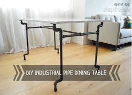 Diy Desk Pipe by Diy Industrial Pipe Dining Table With Ikea Torsby Top