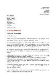 Rejecting Goods Letter rejection letter mypentagonhell