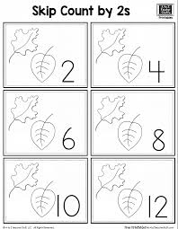leaf skip counting by 2 a to z teacher stuff printable pages and