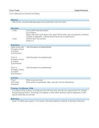 sample resume ms word format free download confidential fax cover