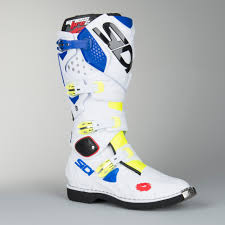 sidi motocross boots review sidi crossfire 2 mx boots fluo yellow white blue now 11 savings