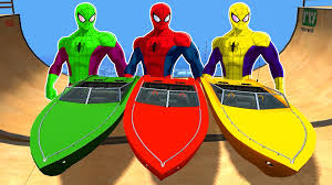 spiderman colors epic party have fun boat party u0026 nursery rhymes