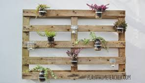 Mason Jar Wall Planter by Diy Jam Jar Pallet Planter U2013 Play At Home Teacher