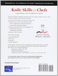 knife skills for chefs christopher p day brenda r carlos