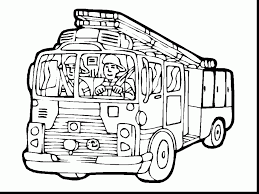 incredible gallery of cartoon fire truck coloring pages with fire
