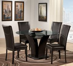 dining table glass design large round kitchen table and chairs