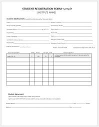 Registration Form Template Excel Enrolment Form Template Cvlook05 Billybullock Us