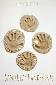 sand clay recipe and handprint keepsakes the imagination tree