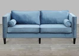 Velvet Sofa Bed Blue Velvet Sofa With Nailheads