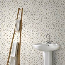 white bathroom wallpaper home design ideas