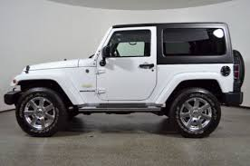 white jeep sahara 2 door jeep wrangler sahara suv for sale used cars on buysellsearch
