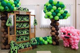 minecraft birthday party minecraft party ideas kara s party ideas party area from a minecraft