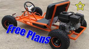 go kart build free plans pdf download youtube