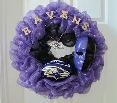 sports fan door wreath baltimore ravens wreath appeal