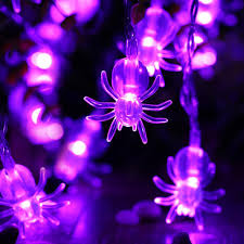 halloween purple led string lights luckled halloween 2 pack battery powered spider string lights 20