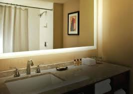 Bathroom Mirror With Built In Light Bathroom Mirrors With Built In Led Lights Wall Medium Size Of