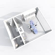 Dental Surgery Floor Plans by 3d Small Furnished Dental Clinic With Blue Dental Chair Stock