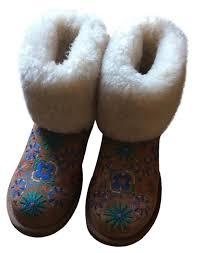 womens designer boots australia ugg australia multi color chestnut embroidered floral print womens