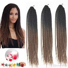 14 inch hair extensions 14inch brown ombre synthetic twist braiding hair extensions