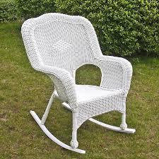 Outdoor Furniture Rocking Chair by International Caravan Chelsea Outdoor Wicker Resin Patio Rocking