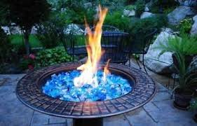 Firepits Gas Glass Caribbean Mix Blue Gas Pits Gas Fireplace