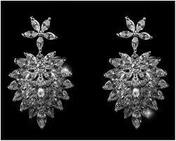 Cubic Zirconia Chandelier Earrings Rhiana Marquise Cluster Statement Chandelier Earring 8ct Cubic