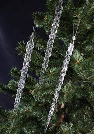 clear icicle ornaments ornaments