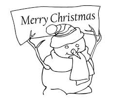 snowman merry christmas coloring christmas coloring pages