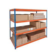 Heavy Duty Shelves by Rapid 1 Heavy Duty 1980h X 2440w Blue U0026 Orange With 4 Chipboar