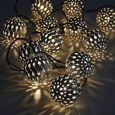 String Of Fairy Lights by 12 Moroccan Globe Solar String Lanterns Led Fairy Lights Garden