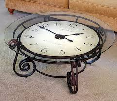 Clock Coffee Table Analog Clocktail Puts A Clock Your Coffetable