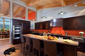 Orange And White Kitchen Ideas Modern Kitchen A Balanced And Bold Splash Of Orange In The
