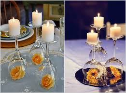 Wine Glass Decorating Ideas Diy Inverted Wine Glass Centrepiece Idea