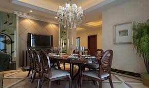 Chandeliers Dining Room Contemporary Dining Room Dramatic Glamorous Contemporary Crystal Chandelier