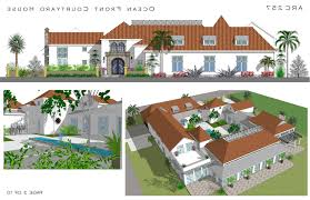 mediterranean home plans with courtyards home design spanish style plans with courtyards hacienda house