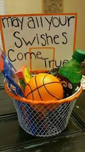 i made this gift basket for my boyfriends basketball of