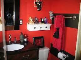 pleasurable ideas red and black bathroom decor fresh decoration