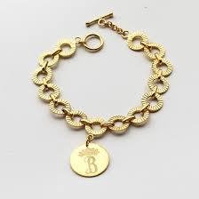 monogram bracelet sterling silver 20 personalized monogram bracelet kate middleton monogrammed