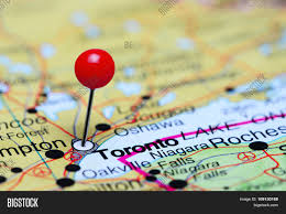 Map Of Toronto Canada by Toronto Pinned On A Map Of Canada Stock Photo U0026 Stock Images